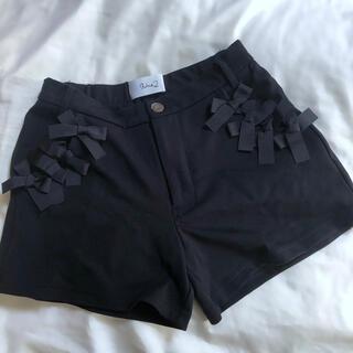ジルスチュアート(JILLSTUART)のショートパンツ 黒 黒色 ショーパン リボン リボン付き(ショートパンツ)