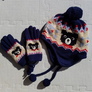 DOUBLE.B - ダブルB ニット帽と手袋セット
