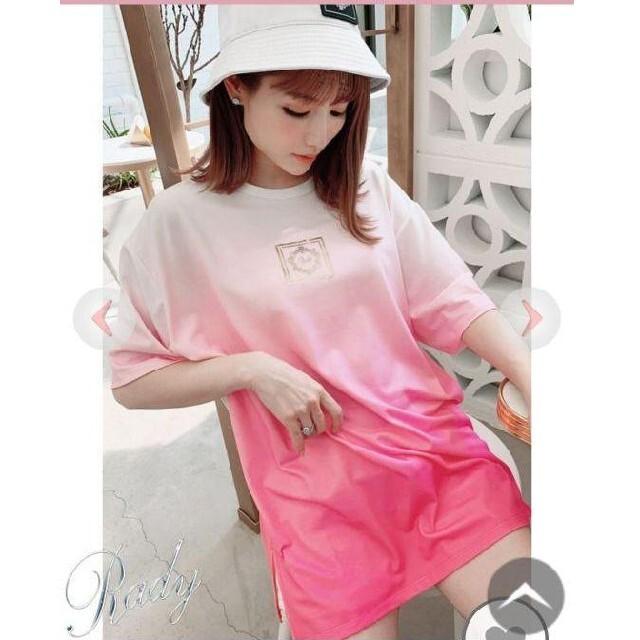 Rady(レディー)のRady  ☆グラデーションTシャツ☆ レディースのトップス(Tシャツ(半袖/袖なし))の商品写真