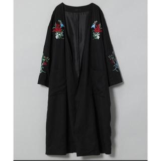 ジーナシス(JEANASIS)のJEANASIS ガウン 羽織り ジャケットコート 黒 (その他)
