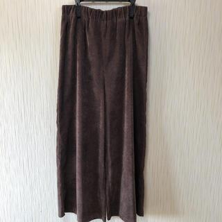 モア(MOR)のワイドパンツ ガウチョパンツ 濃い茶(カジュアルパンツ)