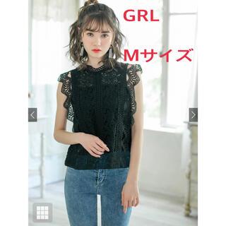 GRL - 【大人気商品】黒のキャミソール付レースノースリーブトップス
