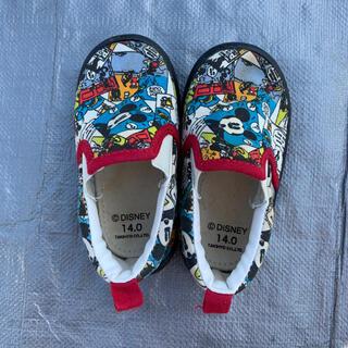 Disney - ディズニー ミッキー スリッポン 子供靴