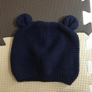 ベビーギャップ(babyGAP)のGAP baby ニットキャップ ネイビー(ニット帽/ビーニー)