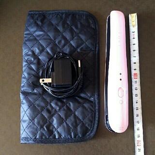 コイズミ(KOIZUMI)のコンパクトヘアアイロン 持ち運び用  ピンク(ヘアアイロン)