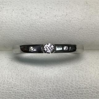 ★大きめの23号★プラチナPt900・ダイヤモンドリング★0.08ct★(リング(指輪))