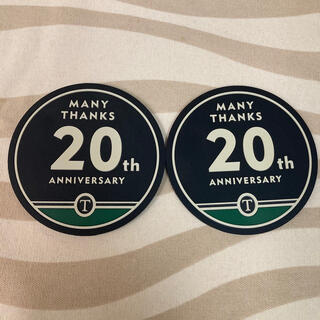 タリーズコーヒー(TULLY'S COFFEE)のタリーズ20周年コースター 2枚組(ノベルティグッズ)