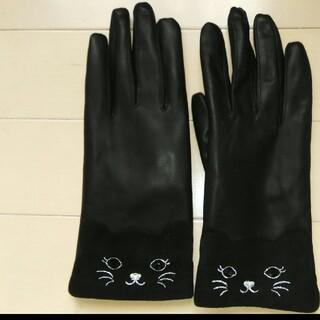 アナスイ(ANNA SUI)のANNA SUI 革手袋 ブラック(手袋)