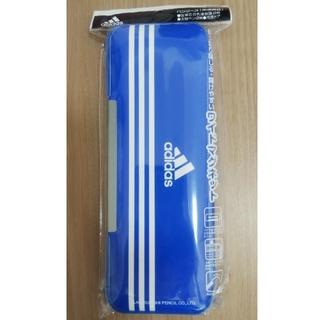 アディダス(adidas)の【未使用】アディダス  ペンケース 筆箱 青 三菱鉛筆(ペンケース/筆箱)