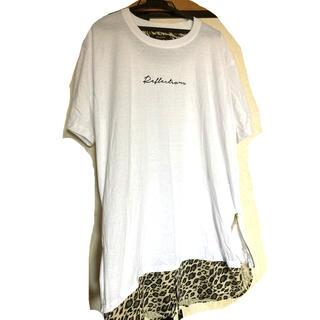 アベイル(Avail)の3L Tシャツ 重ね着風 レオパード チュニック(Tシャツ(半袖/袖なし))