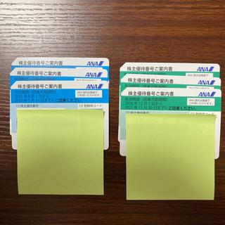 エーエヌエー(ゼンニッポンクウユ)(ANA(全日本空輸))のANA 株主優待券(1-6枚)(航空券)
