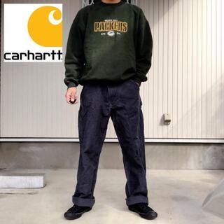 カーハート(carhartt)の【カーハート】90s 地厚目 ダック ワイド ワーク ペインターパンツ ネイビー(ワークパンツ/カーゴパンツ)