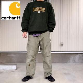 カーハート(carhartt)の【カーハート】ワーク ペインターパンツ カーキ L相当 難あり 古着(ワークパンツ/カーゴパンツ)