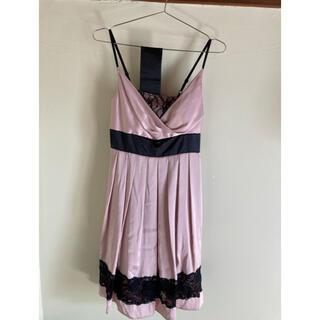 セシルマクビー(CECIL McBEE)のCECIL Mc BEE ドレス スモーキーピンク 日本製(ミディアムドレス)