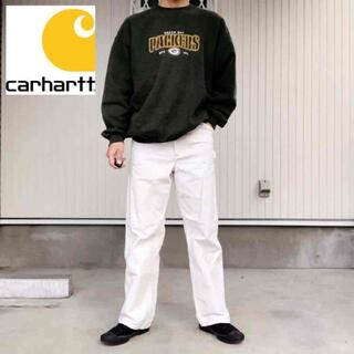 カーハート(carhartt)の【カーハート】希少カラー ワーク ペインターパンツ 日本製 白 W31 古着(ワークパンツ/カーゴパンツ)