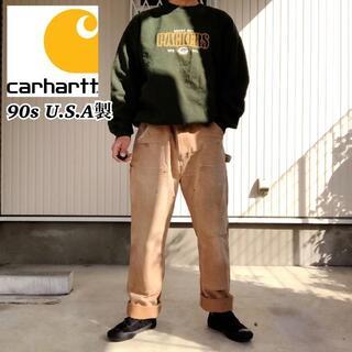 カーハート(carhartt)の【希少】90s USA製 カーハート ダック地 ダブルニー ワークパンツ W34(ワークパンツ/カーゴパンツ)