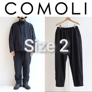 コモリ(COMOLI)の新品■20AW COMOLI ナイロン トラックパンツ 2 ネイビー(その他)