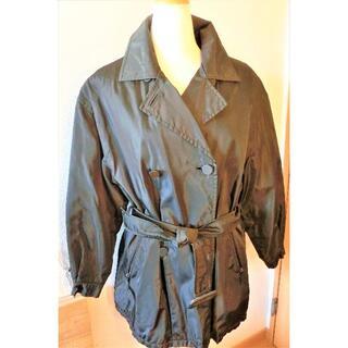 プラダ(PRADA)のプラダ(PRADA) のこげ茶色  wテーラードベルト付きショートコート(ダウンコート)