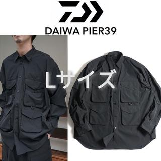 ワンエルディーケーセレクト(1LDK SELECT)の新品■DAIWA PIER39 マルチポケットフィールドシャツ L 黒(シャツ)