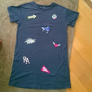 レピピアルマリオ(repipi armario)のレピピアルマリオ 半袖ワンピース(Sサイズ)(Tシャツ/カットソー)