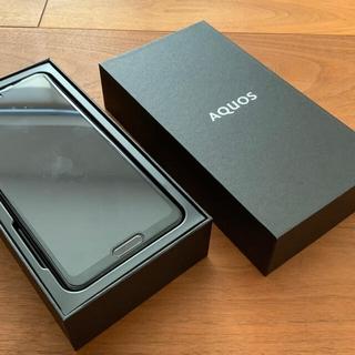 アクオス(AQUOS)のSHARP AQUOS R5G 楽天モバイル SIMフリー ブラックレイ5G(スマートフォン本体)