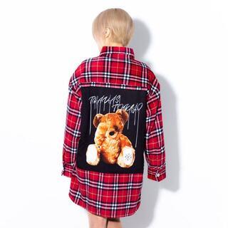 ハニーシナモン(Honey Cinnamon)のTRAVAS TOKYO バッグクマチェックシャツ(シャツ/ブラウス(長袖/七分))