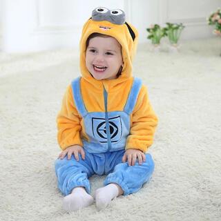 ミニオン(ミニオン)の新品未使用 ミニオンの着ぐるみロンパース ユニバ ベビー服 赤ちゃん コスプレ(衣装)