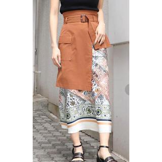 ムルーア(MURUA)のMURUA  トリミングスカーフナロースカート(ひざ丈スカート)