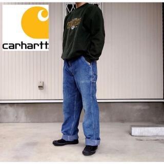 カーハート(carhartt)の【カーハート】90s メキシコ製 デニム ペインターパンツ W34 古着(ワークパンツ/カーゴパンツ)