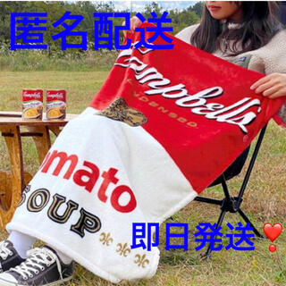 KALDI - 【新品未使用】KALDI限定 限定品 ネックピローブランケット キャンベル缶