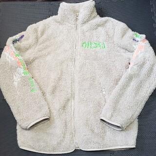 ディーゼル(DIESEL)のDIESEL バック刺繍 ロゴ フリースジャケット(その他)