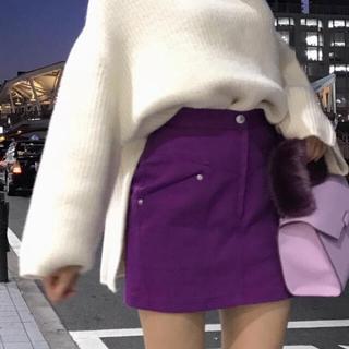 スナイデル(snidel)の《美品》SNIDEL タイトスカートショートパンツ  ラベンダー パープル(ミニスカート)