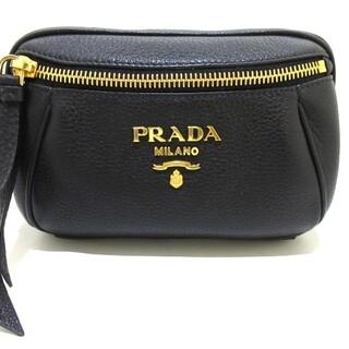 プラダ(PRADA)のプラダ ウエストポーチ美品  - 黒 レザー(ボディバッグ/ウエストポーチ)