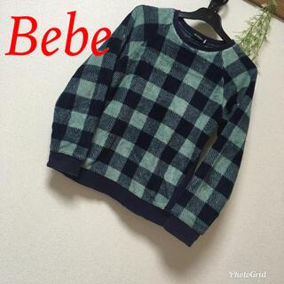 ベベ(BeBe)のべべ ブロックチェックトップス(ニット)
