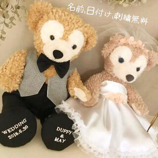 ダッフィー - 名入れ靴付ダッフィー シェリーメイ ウエディング コスチューム 結婚式 衣装