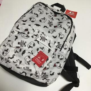 スヌーピー(SNOOPY)の新品●スヌーピー  ひげ かわいい リュックサック 白×黒 (リュック/バックパック)