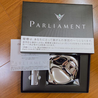 フィリップモリス(Philip Morris)の【限定】値引き!parliament (パーラメント)灰皿 &  ライター(タバコグッズ)