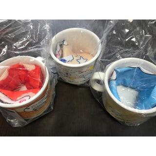 JAL(日本航空) - JAL 機内プレゼント プラスチックマグカップ3個&フォークスプーンセット2個