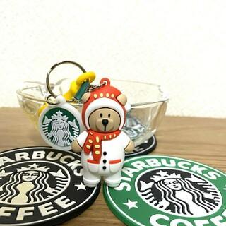 スターバックスコーヒー(Starbucks Coffee)の《大幅値下げ中☆》STARBUCKS キーホルダー ベアリスタ 雪だるま(キーホルダー)