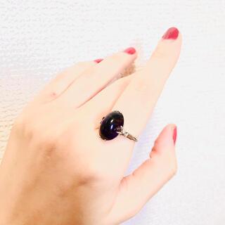 ロキエ(Lochie)のレトロなパープル縦爪リング(リング(指輪))