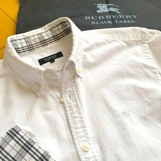BURBERRY BLACK LABEL - ■レア!バーバリーブラックレーベル オックスフォード長袖ダウンシャツ サイズ2