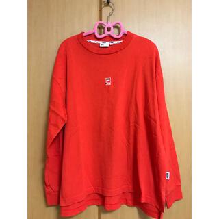 フィラ(FILA)のFILA フィラ オレンジ長袖Tシャツ S(Tシャツ(長袖/七分))