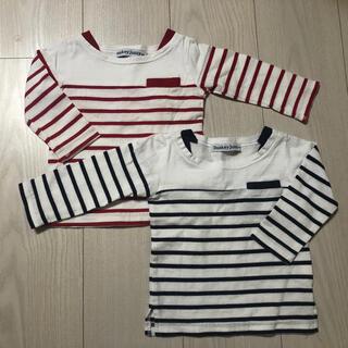 ムージョンジョン(mou jon jon)のTシャツ トップス 2枚 サイズ80(Tシャツ)
