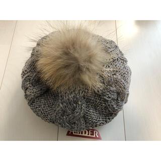 アンバー(Amber)の*ココア様専用ページ*Amber ラビットファーポンポン付きニット帽(ニット帽/ビーニー)