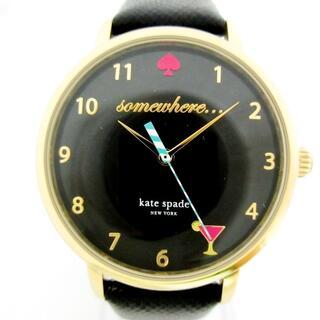 ケイトスペードニューヨーク(kate spade new york)のケイト 腕時計美品  KSW1039 レディース 黒(腕時計)