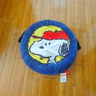 スヌーピー(SNOOPY)の【新品タグ付き】SNOOPY スヌーピー 耳付きサークルペットソファー 犬猫用(猫)