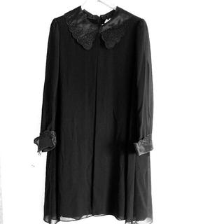 最終お値下げ サイズ 11号 TOKYO IGIN ブラックフォーマルワンピース(礼服/喪服)