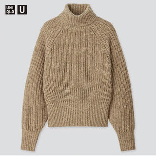 ユニクロ(UNIQLO)のUNIQLO U ローゲージタートルネックセーター XL 新品未使用品(ニット/セーター)