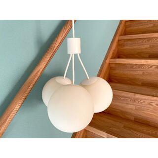 ムジルシリョウヒン(MUJI (無印良品))の無印良品 LED シリコーン 3灯 ペンダントライト 廃盤 レア 美品 (天井照明)
