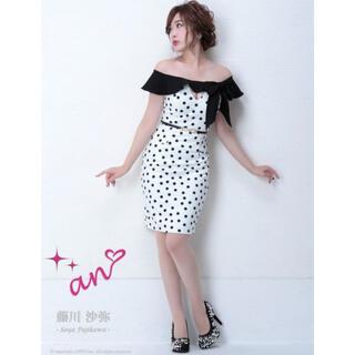 アン(an)のan アン:オフショルリボンドットセットアップ(ナイトドレス)